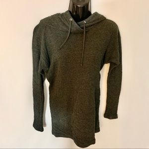Aritzia TNA Sweater With Hood Dark Gray Long Sz S